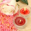 Rose and candles — Stock Photo #11300532