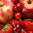 Ripe fruit and berries — Stockfoto