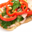 Sandwich with vegetables — Stock Photo