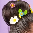 Beauty hairstyle with color candy — Stock Photo #11239824