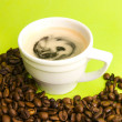Cup of coffee and beans — Stock Photo #11240203