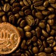 Stock Photo: Coffee beans and medallion