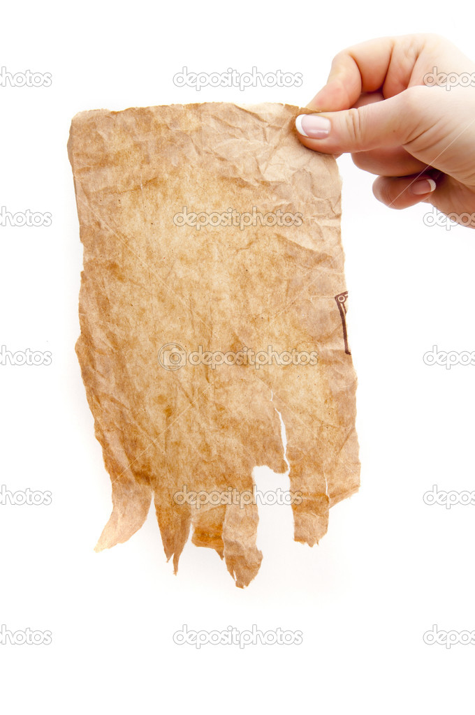 Old paper on wood background. — Stock Photo #11240302