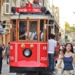 Vintage tram on the Taksim Istiklal Street — Stock Photo #11042225
