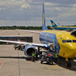 Stock Photo: Airplane in Boryspil Airport