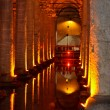 Underground water BasilicCistern - Istanbul Turkey — Stock Photo #11266310