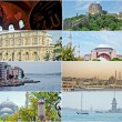 Collage of Istanbul Turkey images - architecture and tourism background — Stock Photo