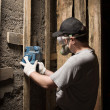 Builder with sander — Stock Photo #11648170