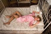 私室で性的なブロンド — ストック写真