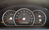 Speedometer in the car — Stock Photo