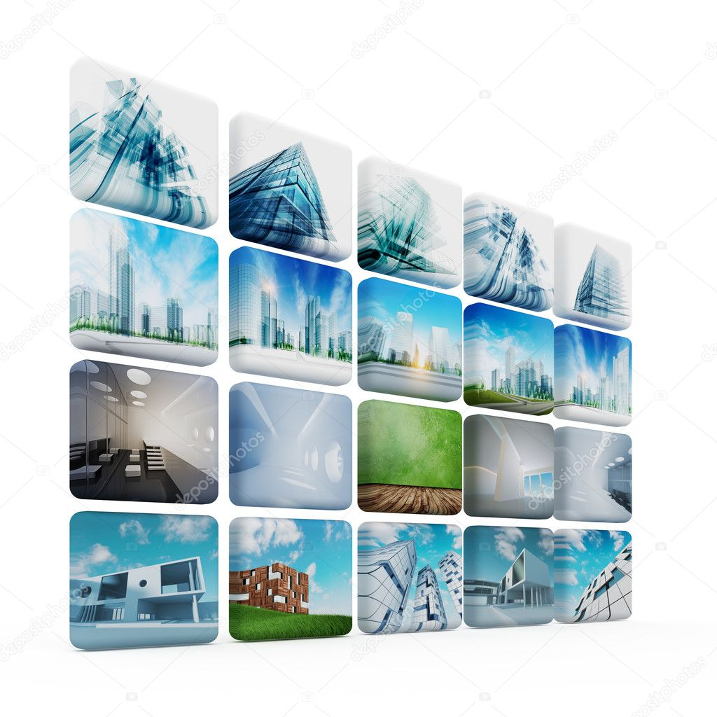 Architecture media. All images and architecture design my own — Stock Photo #11820157