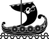 Ancient vikings ship — Stock Vector