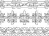 Modello di confine celtica — Vettoriale Stock