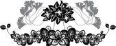 Floral stencil pattern set — Stock Vector