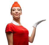 Pretty stewardess — Stock Photo