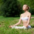 In the lotus pose — Stock Photo