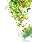 Flying salad — Stock Photo