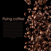 Flying coffee — Photo