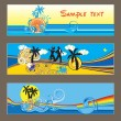 Royalty-Free Stock Vectorielle: Three vector tropical cards