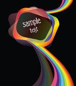 Design element with rainbow — Stock Vector