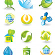 Set of nature design elements — Stock Vector #11742818