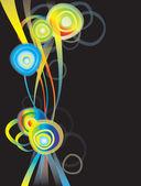 Elemento de design com arco-íris — Vetor de Stock
