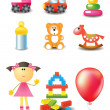 Vector toy icons — Stock Vector