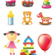 Vector toy icons - Stock Vector