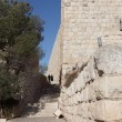 Stock Photo: Two religious Jews go along Jerusalem wall