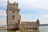 The well-known fortress of Belen in a river Tagus — Stock Photo
