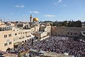 западная стена в иерусалимском храме — Стоковое фото
