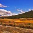 Steppe and mountains in the autumn. — Stock Photo
