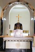 Igreja no monte das bem-aventuranças. um interior. — Foto Stock
