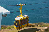 The cable car in entertaining center on border of Israel — Zdjęcie stockowe