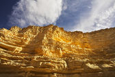 The walls of a canyon from sandstone — Stock Photo