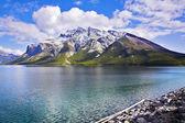Cold fine lake — Stock Photo