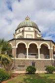 Basilica and colonnade at Mount Beatitudes — Stock Photo