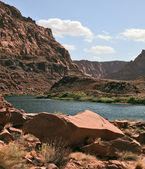 The Colorado River in the steep banks — Stock Photo