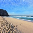 Stock Photo: Huge beautiful beach on the Atlantic coast