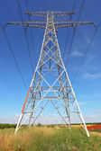Support high-voltage power lines — Stock Photo