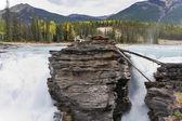 Howling Athabasca Falls — Stock Photo