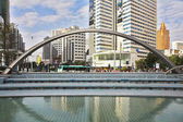 Fountain on the area of the Chinese city — Stock Photo