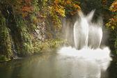 The dance fountain in Butchard-garden in Canada — Stock Photo