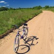 Bicycle on sandy rural road — Stock Photo