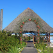 Stock Photo: Wedding gazebo on the Caribbean coast.