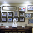 Wall of historical events in Cuba hotel — Stock Photo