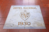 Inscription on the floor of the Hotel Nacional de Cuba. — Stock Photo