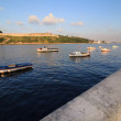 Stock Photo: Fishing boats in the bay of Havana.
