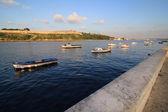 Fishing boats in the bay of Havana. — Stock Photo