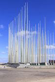 250 bandeiras - um símbolo de indomável será do cubano — Foto Stock